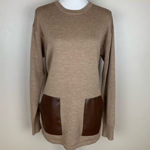 J. Crew 100% Wool light brown sweater. Size M.